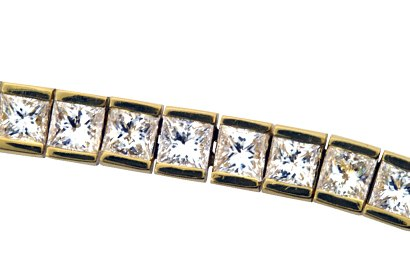 Bar-Set Diamond Bracelet