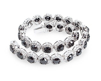 Black and White Diamond bracelt