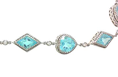 Blue Topaz and White Gold Bracelet