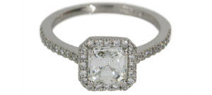 Cushion Cut Diamond Octagonal Halo - Dominion Jewelers
