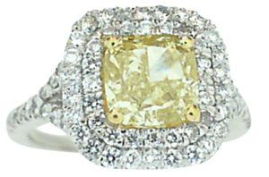 Cushion Cut Yellow Diamond Engagement Ring - Dominion Jewelers