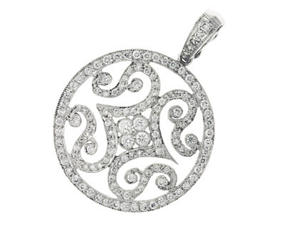 Diamond Medallion Pendant 1