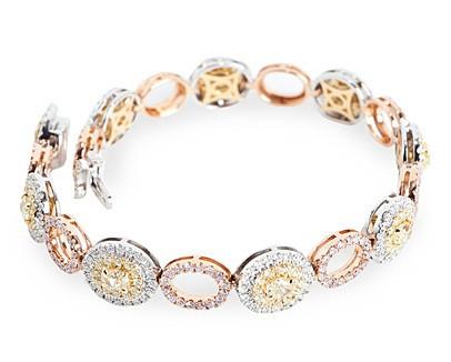 Diamond Tricolor Bracelet