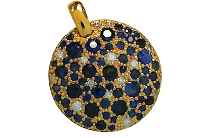 Diamond and Sapphire Confetti Pendant