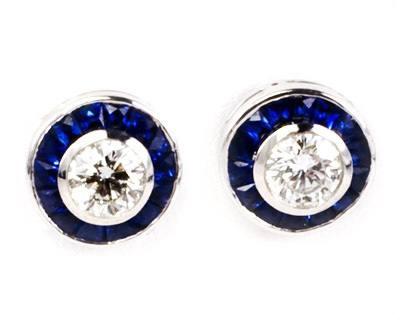 Diamond and Sapphire Studs