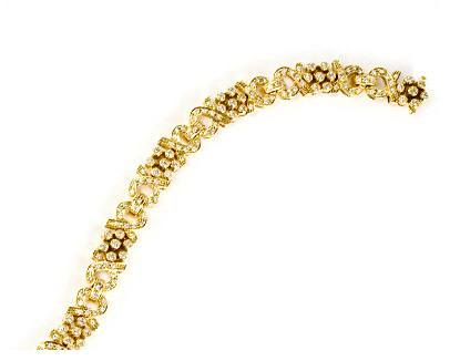 Diamond and Yellow Gold Bracelet