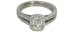 Emerald Cut Halo Engagement Ring - Dominion Jewelers