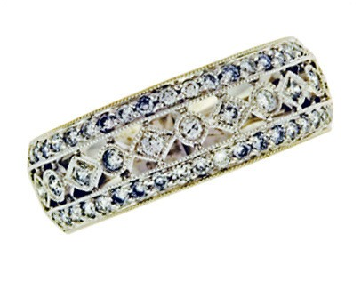 Filigree Diamond Band