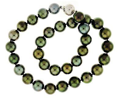 Mixed Green Hue Pearls
