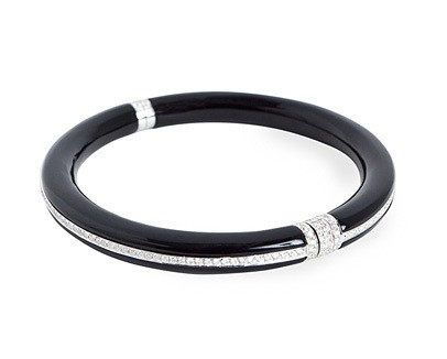 Onyx and Diamond Bangle