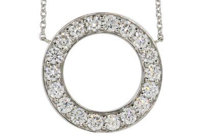 Pave Diamond Circle Pendant