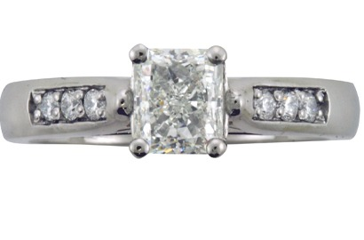 Radiant Cut Pave Engagement Ring