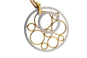 Two Tone Diamond Medallion