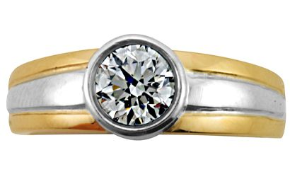 Two-tone Brilliant Cut Diamond Ring