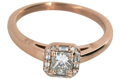 Vintage Design Rose Gold Engagement Ring