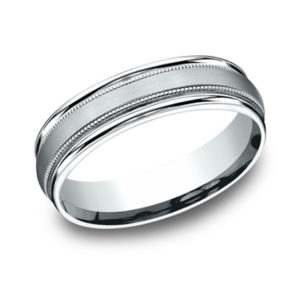 Rounded Edge Wedding Band